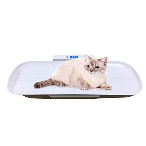 One Two Three Bilancia digitale per misurare accuratamente il peso di cani e gatti, capacità 100kg, precisione ± 10g, misura del vassoio 70cm