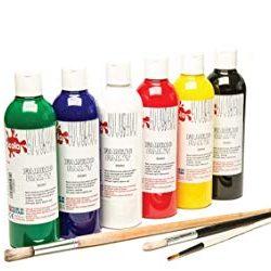 Scolaquip Pittura per Tessuto, Materiali Artistici Educativi per Bambini, 6 x 150ml, Colori Assortiti 2
