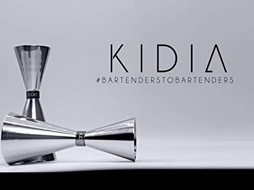 Kidia – Jigger in Acciaio Inox Inossidabile,Dosatore Cocktail per Attrezzatura Bar,Misurino graduato 8
