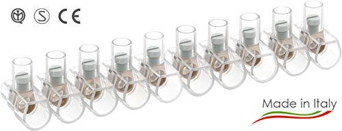 Arnocanali – 100 Morsetti unipolari in stecche da 10 poli , 4mmq