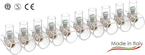 Arnocanali – 100 Morsetti unipolari in stecche da 10 poli , 6 mmq