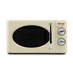 Girmi FM21 Forno Microonde Combinato Vintage Design, 20 Lt, 700+800W, Crema