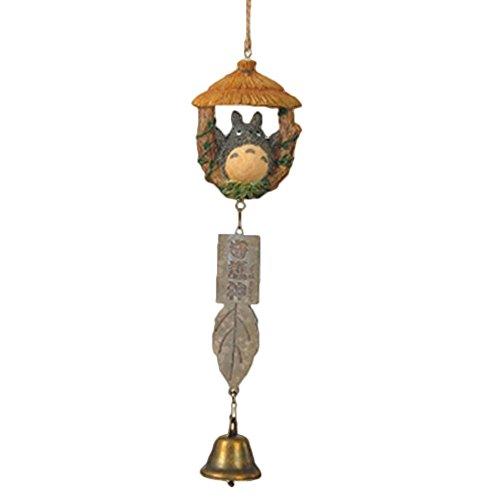 Yovvin Totoro Resina Ornamenti Vento Carillon in Legno casa Paesaggio Garden Outdoor Decor Creative Campanula