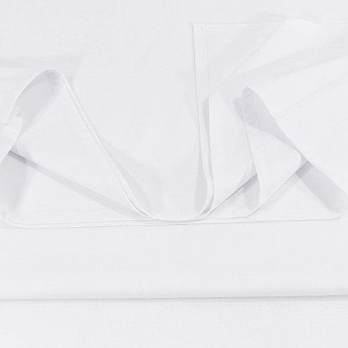 Lenzuolo Telo Panno per la casa Tovaglia bianca, Dimensioni 150 x 250 cm in 100% cotone 5