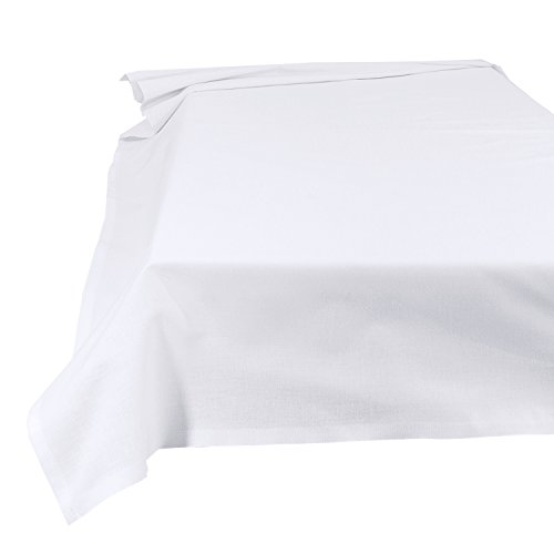 Lenzuolo Telo Panno per la casa Tovaglia bianca, Dimensioni 150 x 250 cm in 100% cotone 7