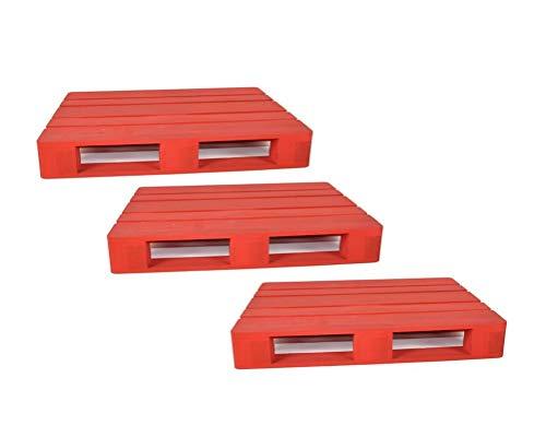 Set 3 pz Vassoio in Legno Pedana Rossa per Antipasti 18 x 12 cm Vassoio Aperitivo Natalizio Fair