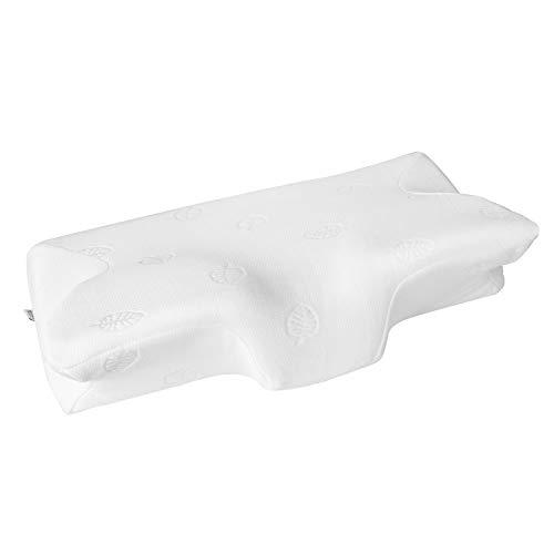 MARNUR Cuscino Memory Foam Cervicali- Cuscino Ortopedico Ergonomico per il Dolore al Collo per Uomini e Donne + Federe Cuscino