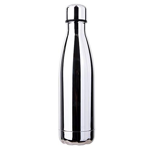 king do way Termica Bottiglia d'Acqua Sportive 500ml per Mantenere Caldo e Freddo, Portatile Borraccia in Acciaio Inox con Spazzola di Pulizia, Borracce per Scuola, Sport, All'aperto, Yoga, Palestra