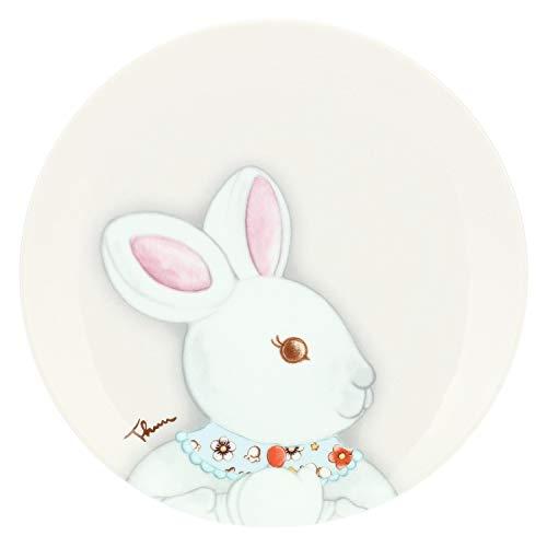 THUN – Piattino Grigio – Linea Coniglio Magico Piccolo – Porcellana – Ø 20,5 cm