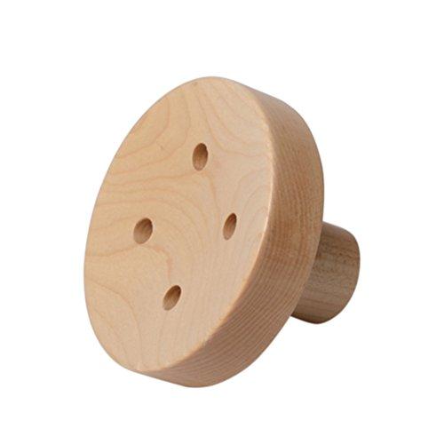 Healifty Gancio appendiabiti in legno a forma di bottone da parete