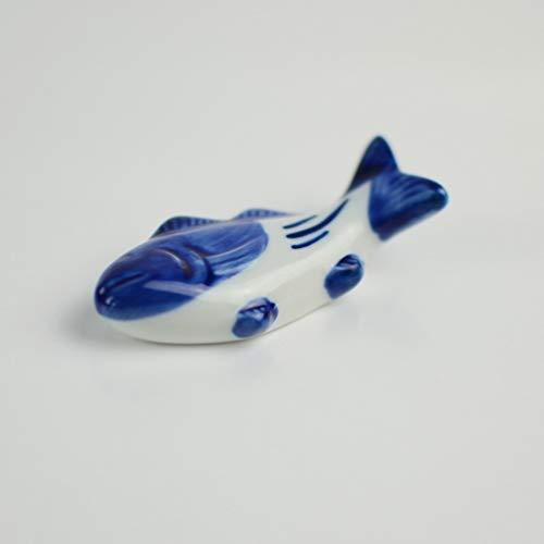 UPKOCH – Supporto creativo per bacchette in ceramica, a forma di pesce, per forchetta, coltello, cucchiaio, supporto per matrimoni, feste, decorazione per la casa e la cucina, 8 pezzi 5