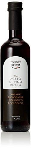 Marchio Amazon – Wickedly Prime Aceto Bio di vino rosso.