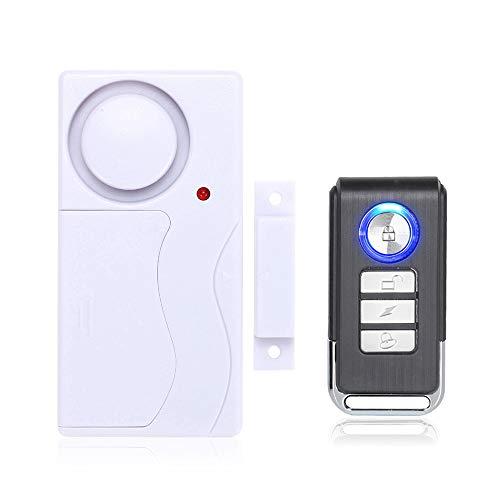 Mengshen Wireless Finestra porta finestra Allarme antifurto DIY Sicurezza Sicurezza Sistema di allarme Sensore magnetico con telecomando – 1 Allarme 1 Telecomando M64