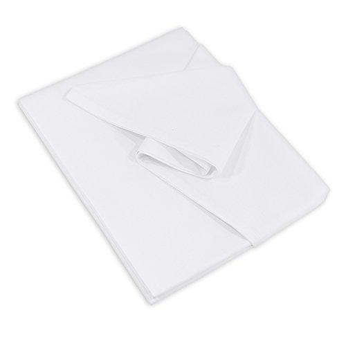 Lenzuolo Telo Panno per la casa Tovaglia bianca, Dimensioni 150 x 250 cm in 100% cotone 3