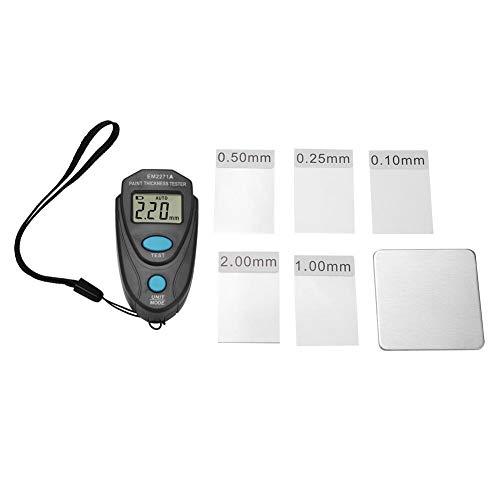 DEWIN di Spessore di Rivestimento Tester – Paint misuratore di Spessore Mini Vernice Spessore LCD Digitale Tester Coating Display Auto Tester del Calibro Strumento Mesuring