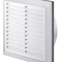MKK-SHOP – Griglia di aerazione e protezione dagli insetti, Ø 150 mm, modello T27, in ABS, colore: bianco