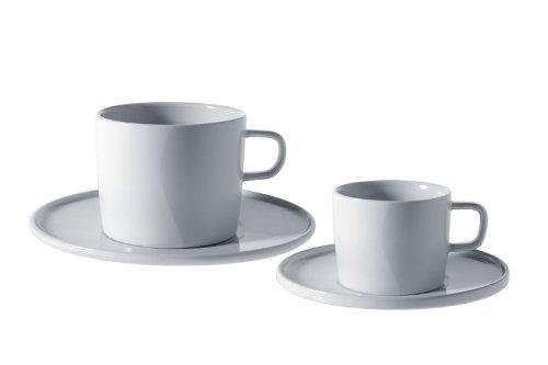 A di Alessi – AJM28/79 – PlateBowlCup Sottotazza da tè in in porcellana bianca – set da 4 3