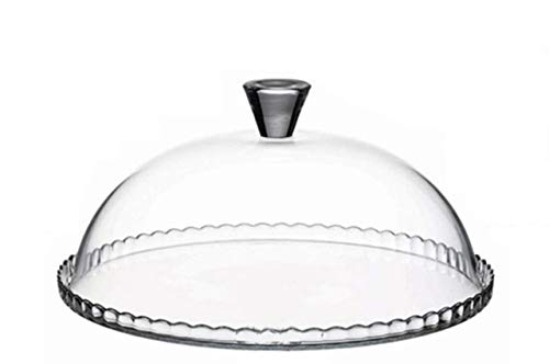 SWEET HOME Piatto Torta Dolci con Campana Cupola Cloche in Vetro cod.2195119 cm 15h diam.32 by Varotto & Co.