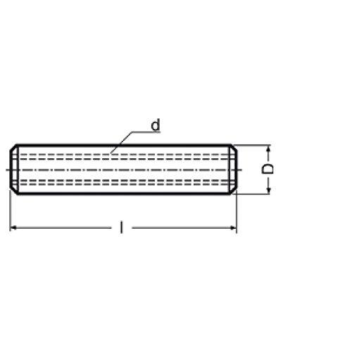 Widex 520974830manicotto di collegamento per barre filettate, in acciaio inox A2, M8x 30, confezione da 25pezzi 2