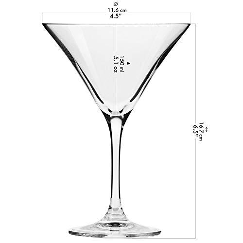 Krosno Bicchieri Cocktail Martini Bar Vetro Coppa   Set di 6   150 ML   Elite Collection   Ideale per la casa, Ristorante Feste e Ricevimenti   Adatto alla Lavastoviglie e Forno a Microonde 3