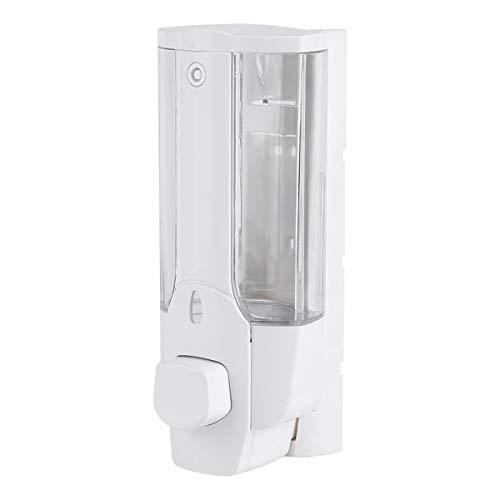 Ruiqas Dispenser di Sapone da Parete 350ml, Dispenser di Sapone Liquido fissato al Muro, dispensatore di disinfettante per Mani, Contenitore per Shampoo Gel Doccia (2 Colori opzionali)