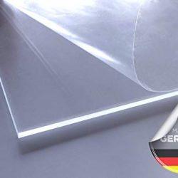 Vetro acrilico/plexiglass | Trasparente | Trasparente | Resistente ai raggi UV | su entrambi i lati foliert | IM zuschnitt | Spessore 4mm