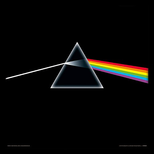 Pink Floyd Dark Side of The Moon – Stampa incorniciata, 30,5 cm, MDF, Multicolore, 32 x 32 x 1,5 cm