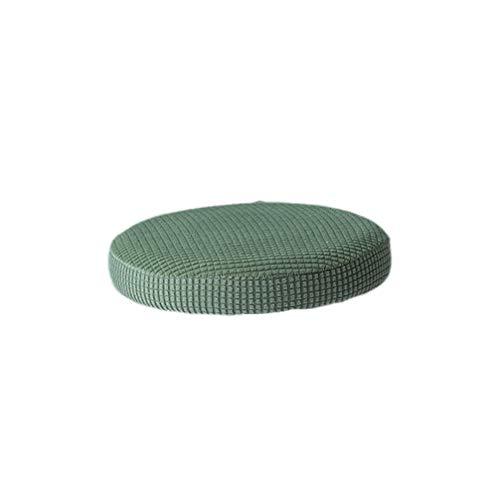 VOSAREA cuscino per sgabello da bar rotondo elastico sedile elasticizzato custodia protettiva fodera per sedia rimovibile per ufficio festa in hotel (verde militare 30-38 cm di diametro)