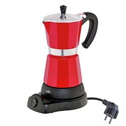 Cilio 273854 – Caffettiera elettrica Classico da 6 tazzine, Colore: Rosso