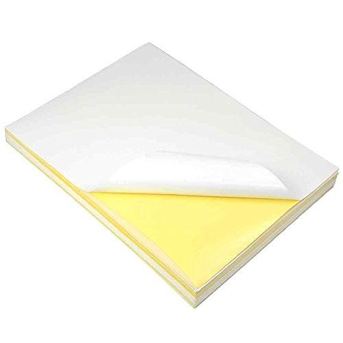 MENGS® 100x Carta per stampante A4 & Fogli di Carta Lucida 297mm x 210mm adatti per stampare etichette