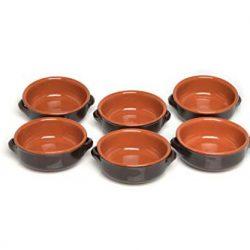 Ciotola con 2 Manici, Ceramica, Marrone, 14 cm