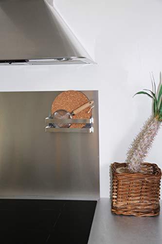COMPACTOR Porta spezie magnetico, Fino a 1,5 kg, Acciaio inox, Argento, 20.5 x 6 x H.6 cm, RAN8201 7