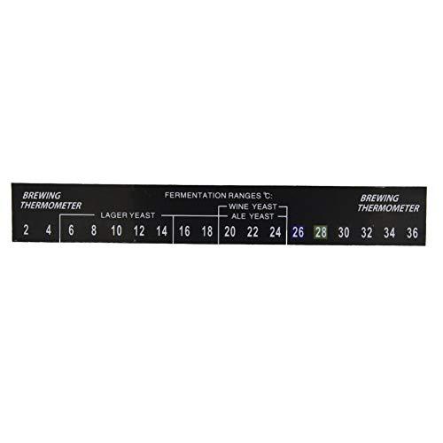 Eastbuy Termometro LCD – Termometro Birra, 5pcs Stick on Brewing Termometro, Adesivo Termometro LCD Adesivo, per Homebrew 8