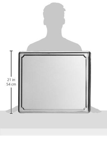 Jocca 6414- Copri piano cottura in acciaio INOX, 60.5 x 52.5 x 5.5 cm, Argento 5