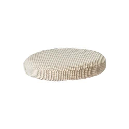 VOSAREA cuscino per sgabello da bar rotondo elastico sedile elasticizzato custodia protettiva fodera per sedia rimovibile per ufficio per feste dalbergo (beige 30-38 cm di diametro)