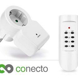 conecto CC50104 Prese radiocomandate, 1100 W, 230 V, Bianco, Set da 1