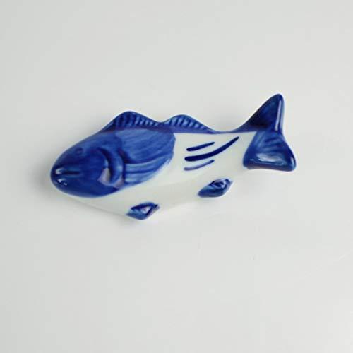 UPKOCH – Supporto creativo per bacchette in ceramica, a forma di pesce, per forchetta, coltello, cucchiaio, supporto per matrimoni, feste, decorazione per la casa e la cucina, 8 pezzi 4