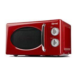 Girmi FM21 Forno Microonde Combinato, Vintage Design, 20 Litri, 700+800W, Rosso