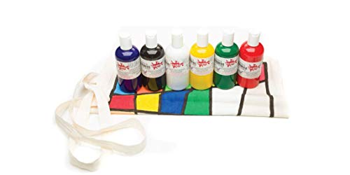 Scolaquip Pittura per Tessuto, Materiali Artistici Educativi per Bambini, 6 x 150ml, Colori Assortiti 3