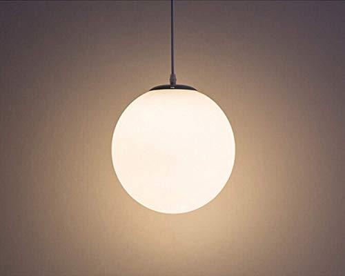 Lampadario con sfera di vetro, Lampada a sospensione, Lampada interna singola per Camera da letto, Soggiorno, Corridoio, Ristorante, Bar 1pcs (25CM) 3