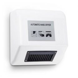 Kenley – Asciugamani Elettronico Automatico a Muro ad Aria Calda – Design Moderno e Sottile Salvaspazio – 1800 W