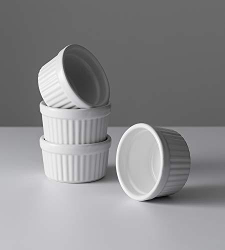Mason Cash Classic Collection–Set di 4Ciotole 9cm Stoneware Souffle Ramekin, Ceramica, Bianco, 9x 9x 5cm 3
