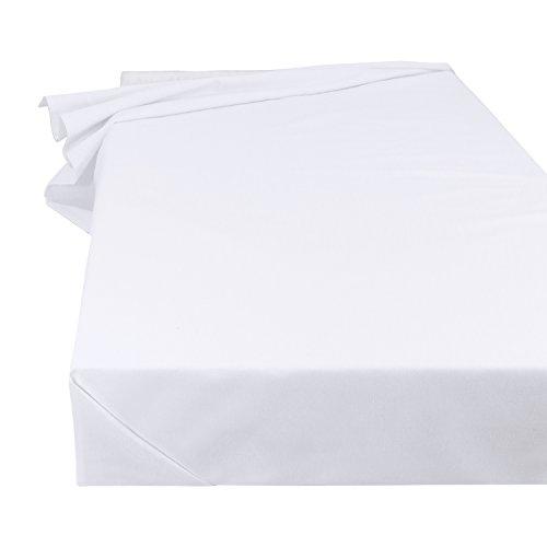 Lenzuolo Telo Panno per la casa Tovaglia bianca, Dimensioni 150 x 250 cm in 100% cotone