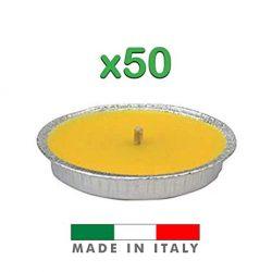 Palucart Candela citronella Giardino citronella Alluminio 14 cm Set da 50 Pezzi Giardinaggio antizanzare Feste ed Eventi