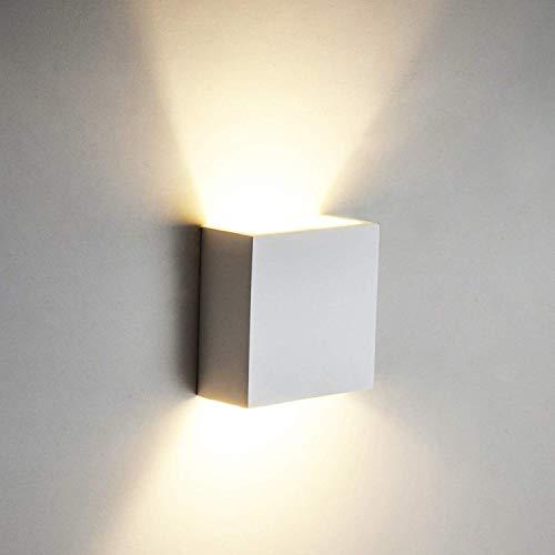 6W LED Lampada da Parete Applique da Parete in Alluminio a Stile Moderno, 3000K Bianco Caldo per Camera da Letto, Soggiorno, Bagno, Corridoio, Scale
