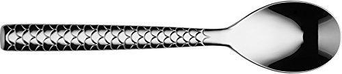 Alessi Colombina Fish Cucchiaio da Pesce, Acciaio Inossidabile, Argento, 5.50×4.50×23 cm, 6 unità