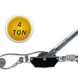 Vetrineinrete® Paranco manuale a leva da 4 tonnellate montacarichi a cricchetto per sollevare pesi doppio gancio sollevatore per trainare verricello per sollevare P62 2