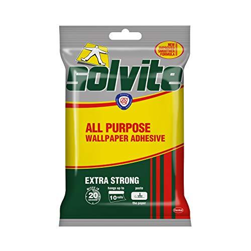 Solvite Extra Strong All Purpose Fast Mix – Colla adesiva per carta da parati, per fissare 10 rotoli, 185 g