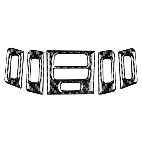 5pcs pannello di sfiato della presa d'aria dell'automobile copertura, pannello di presa d'aria della sfiato della fibra di carbonio rivestimento interno 2