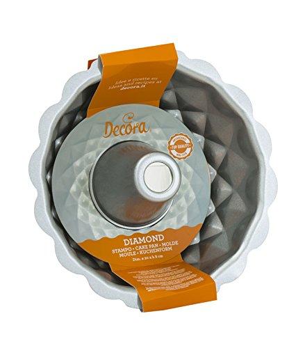 DECORA 0070021 Stampo Ciambella Antiaderente, Acciaio, Grigio